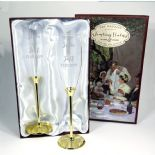 Wedding or Golden Anniversary Champagne Flutes, PERSONALISED ref WDGF